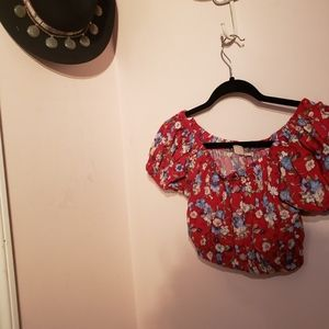 Urban outfitters urban renewal Floral crop top